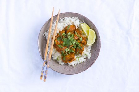 Chicken masala curry s ryzou basmati